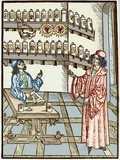 Medieval Physician And Pharmacist Photographic Print by Sheila Terry