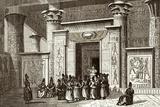 Pythagoras And Egyptian Priests Fotodruck von Sheila Terry