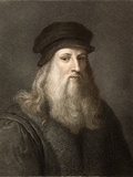 1490 Leonardo Da Vinci Colour Portrait Photographic Print by Paul Stewart