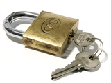 Padlock And Keys Photographic Print by Johnny Greig