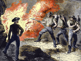 Coal Mine Fire, 19th Century Prints by Sheila Terry