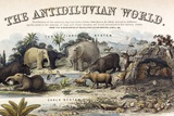 1849 the Antidiluvian World Crop Jurassic Prints by Paul Stewart