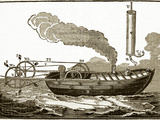 Jonathan Hulls' Steamboat, 18th Century Prints by Sheila Terry