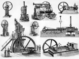 19th Century Steam Engines Poster by Sheila Terry