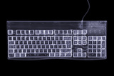 Computer Keyboard, Simulated X-ray Photographic Print by Mark Sykes