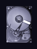 Computer Hard Disk, Simulated X-ray Photographic Print by Mark Sykes