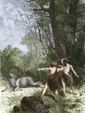 Neolithic Hunters Photographic Print by Sheila Terry