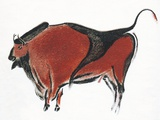 Cave Painting of a Bison, Artwork Posters by Sheila Terry