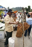 Person Selling Cinnamon Stick At Market Posters by Bjorn Svensson