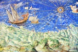 Detail of 16th Century Map of Liguria Poster by Sheila Terry