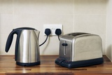 Electric Kettle And Toaster Photographic Print by Johnny Greig