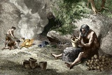 Early Humans Making Pottery Photo by Sheila Terry