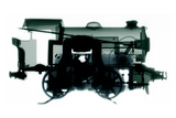 Electric Train, X-ray Photographic Print by Neal Grundy