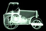Toy Tin Tractor, X-ray Photographic Print by Neal Grundy