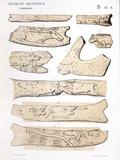 1863 Lartet Prehistoric Animal Carving Posters by Paul Stewart