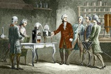 Lavoisier's Experiment on Air, 1776 Posters par Sheila Terry
