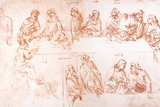 Sketch for the Last Supper Photographic Print by Sheila Terry