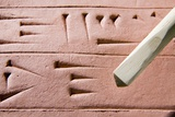 Cuneiform Clay Tablet And Stylus Posters by Sheila Terry