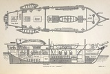 1832 Darwin's Ship HMS Beagle Plan Photographic Print by Paul Stewart