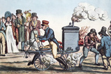 Motorcycle In 1818, Historical Artwork Photographic Print by Sheila Terry