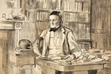 1883 Richard Owen's Study Ex BMNH Poster by Paul Stewart