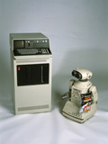 IBM 5110 And Omnibot 2000 Robot Photographic Print by Volker Steger