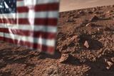 US Flag on Mars, Artwork Photographic Print by Detlev Van Ravenswaay