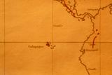 The Galapagos Islands Seen on One of Darwin's Maps Photographic Print by Volker Steger
