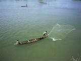 Men Fishing, Laos, Asia Prints by Bjorn Svensson