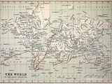 Map Darwin's Beagle Voyage South America Photographic Print by Paul Stewart