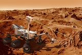 Curiosity Rover on Mars, Artwork Photographic Print