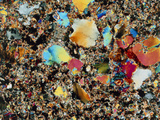 Polarised LM of Granite In Thin Section Photographic Print