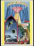 Viennese Fun Fair, Historical Post Card Prints by Detlev Van Ravenswaay