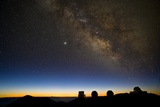 Milky Way And Observatories, Hawaii Prints