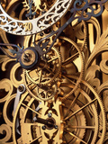 Internal Gears Within a Clock Photographic Print
