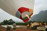 Launching a Hot Air Balloon Posters