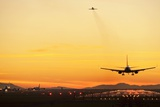 Airport At Sunset Photographic Print