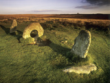 Men-an-tol Standing Stones Print by Chris Madeley