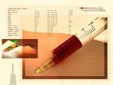 Blood Analysis, Conceptual Artwork Photographic Print by Miriam Maslo