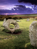 Men-an-tol Standing Stones Premium Photographic Print by Chris Madeley