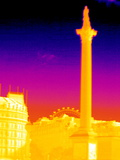 Nelson's Column, Thermogram Print by Tony McConnell