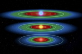Life Zones Around Three Stars, Artwork Poster by  NASA
