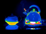 Kettle And Teapot, Thermogram Print by Tony McConnell