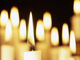 Candles Burning Photographic Print by Cordelia Molloy