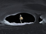 Saturn From Iapetus, Artwork Photographic Print by Walter Myers