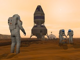 Mars Exploration, Artwork Photographic Print by Walter Myers