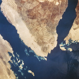 Sinai Peninsula From Space Photographic Print by  NASA
