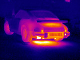 Porsche Car, Thermogram Photographic Print by Tony McConnell