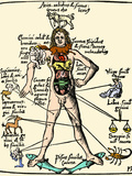 16th-century Medical Astrology Photographic Print by Cordelia Molloy