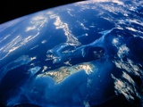 Shuttle View of Part of the Bahamas Archpelago Photographic Print by  NASA